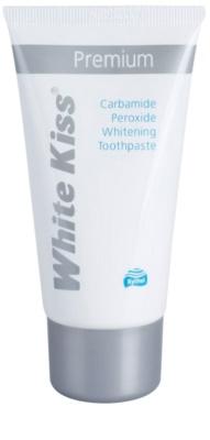 White Kiss Premium pasta de dientes con efecto blanqueador para fortalecer el esmalte dental