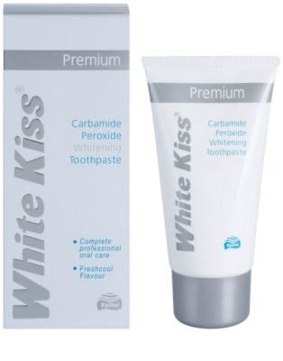White Kiss Premium bleichende Paste zur Stärkung des Zahnschmelzes 1