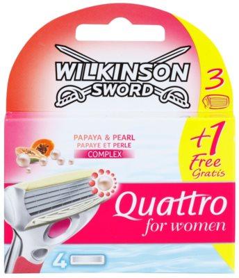 Wilkinson Sword Quattro for Women Papaya & Pearl nadomestne britvice