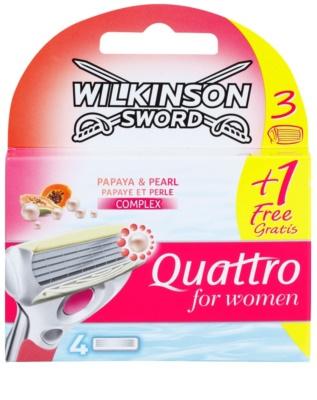 Wilkinson Sword Quattro for Women Papaya & Pearl náhradné žiletky