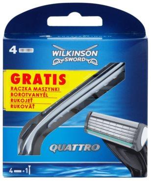 Wilkinson Sword Quattro 4 lâminas de reposição + manuseador