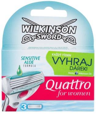Wilkinson Sword Quattro for Women Sensitive recarga de lâminas 3 pçs