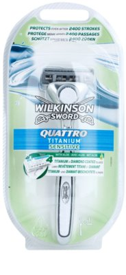 Wilkinson Sword Quattro Titanium Sensitive máquina de barbear