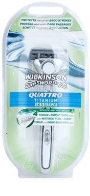 Wilkinson Sword Quattro Titanium Sensitive maszynka do golenia