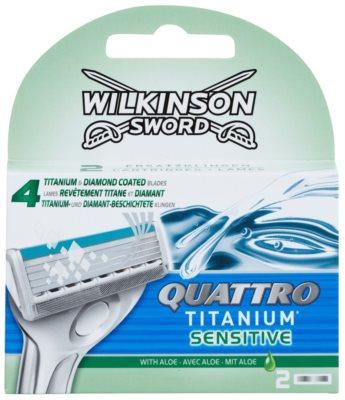 Wilkinson Sword Quattro Titanium Sensitive tartalék pengék
