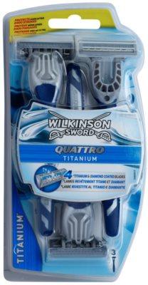 Wilkinson Sword Quattro Titanium Станок для гоління одноразовий 3 Шт
