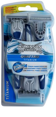 Wilkinson Sword Quattro Titanium lâminas descartáveis 3 pçs