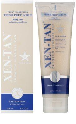 Xen-Tan Clean Collection frissítő testpeeling hosszabbítja a napbarnítottságot 1