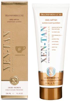 Xen-Tan Light Selbstbräunercreme für Körper und Gesicht für allmähliche Bräunung 1