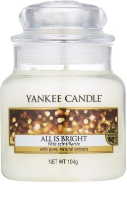 Yankee Candle All is Bright ароматизована свічка   Classic  маленька
