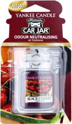 Yankee Candle Black Cherry illat autóba   felakasztható autóillatosító