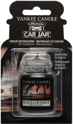 Yankee Candle Black Coconut illat autóba   felakasztható autóillatosító