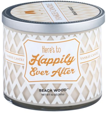 Yankee Candle Beach Wood ароматизована свічка    (Here´s to Happily Ever After)