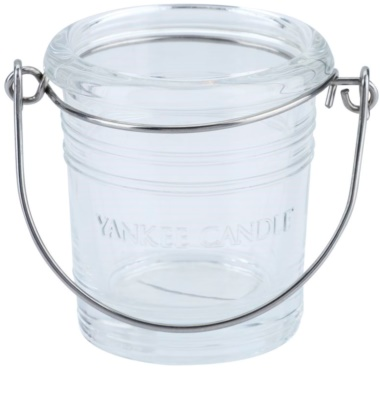 Yankee Candle Glass Bucket Glass Holder for Votive Candle    (Violet)