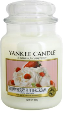 Yankee Candle Strawberry Buttercream lumanari parfumate   Clasic mare