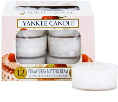 Yankee Candle Strawberry Buttercream vela do chá