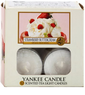 Yankee Candle Strawberry Buttercream vela de té 1