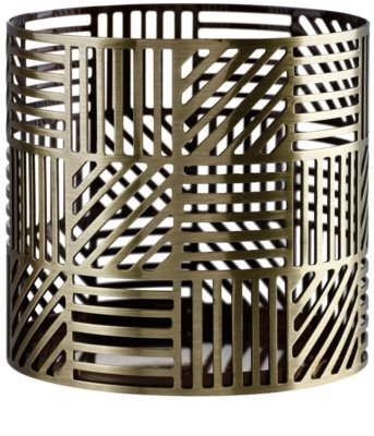 Yankee Candle Crosshatch Brass Scented Candle Holder   Décor