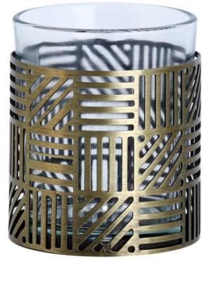 Yankee Candle Crosshatch Brass candeeiro em vidro para vela