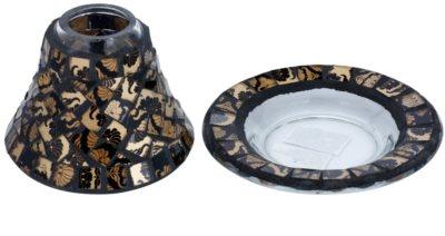 Yankee Candle Damask Mosaic conjunto de prato e abajure   para vela perfumada pequena Classic