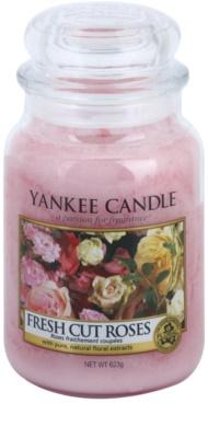 Yankee Candle Fresh Cut Roses ароматна свещ   Classic голяма