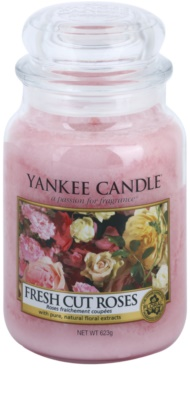 Yankee Candle Fresh Cut Roses vela perfumada   Classic grande