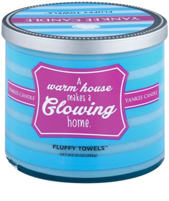 Yankee Candle Fluffy Towels vela perfumado   (A Warm House Makes a Glowing Home)
