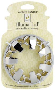 Yankee Candle Illumalid декоративне кільце   для ароматизованої свічки Classic велика та середня підставка (Chrome)