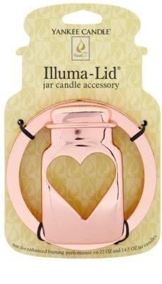 Yankee Candle Jarcon Illumalid декоративне кільце   для ароматизованої свічки Classic велика та середня підставка (Gold)