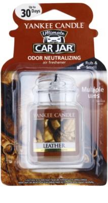 Yankee Candle Leather illat autóba   felakasztható autóillatosító