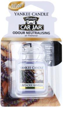 Yankee Candle Lavender Vanilla illat autóba   felakasztható autóillatosító