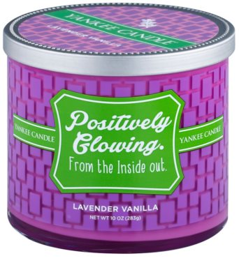 Yankee Candle Lavender Vanilla vela perfumada    (Positively Glowing. From the Inside Out)