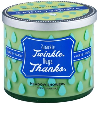 Yankee Candle Meadow Showers illatos gyertya    (Sparkle. Twinkle. Hugs. Thanks.)