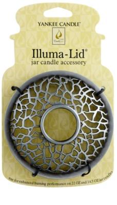 Yankee Candle Matrix Brushed пръстен за декорация на ароматна свещ   за ароматна свещ Classic голям и среден (Silver)