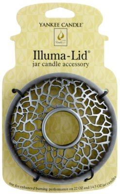 Yankee Candle Matrix Brushed Argola para castiçal   vela de água Clássic grande e média (Silver)