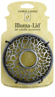 Yankee Candle Matrix Brushed Díszítő gyertyagyűrű   Classic illatos gyertya nagy és közepes méretben (Silver)