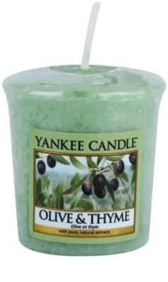 Yankee Candle Olive & Thyme viaszos gyertya