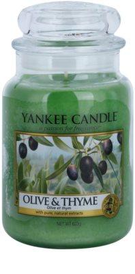 Yankee Candle Olive & Thyme vonná svíčka  Classic velká