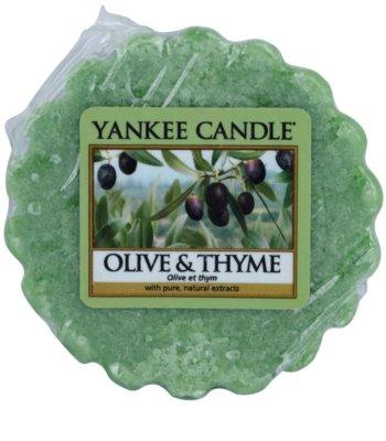 Yankee Candle Olive & Thyme illatos viasz aromalámpába