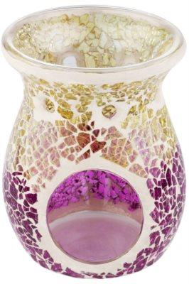 Yankee Candle Purple & Gold Crackle Gläserne Aromalampe