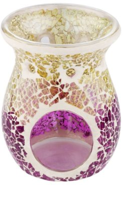Yankee Candle Purple & Gold Crackle Lampă aromaterapie din ceramică