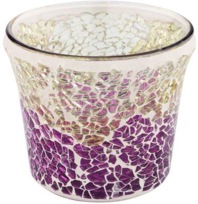 Yankee Candle Purple & Gold Crackle candeeiro em vidro para vela