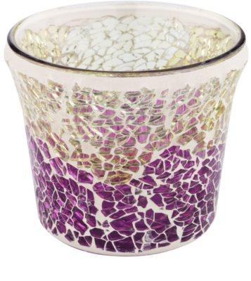 Yankee Candle Purple & Gold Crackle Sklenený svietnik na votívnu sviečku