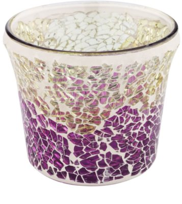 Yankee Candle Purple & Gold Crackle Suport lumânare pahar