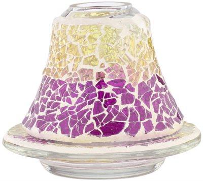 Yankee Candle Purple & Gold Crackle набор абажур та підставка   для ароматизованої свічки Classic маленької