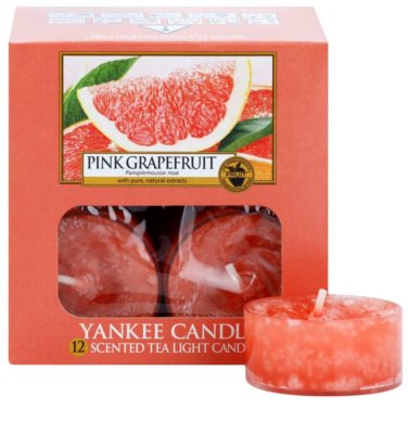 Yankee Candle Pink Grapefruit vela de té