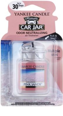 Yankee Candle Pink Sands illat autóba   felakasztható autóillatosító