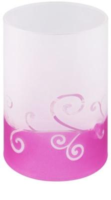 Yankee Candle Purple Scroll Стъклен свещник за чаена свещ