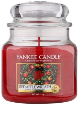Yankee Candle Red Apple Wreath vonná svíčka  Classic střední