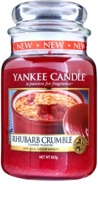 Yankee Candle Rhubarb Crumble vela perfumado  Classic grande